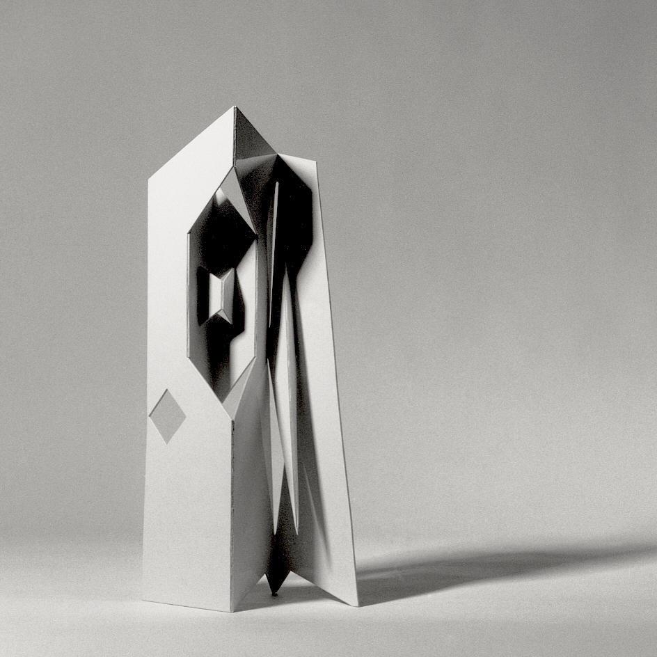 Bruno Munari, Scultura da viaggio, cartoncino fustellato e piegato, edita in mille esemplari, 1959. © Roberto Marossi, 1999; courtesy Fondazione Jacqueline Vodoz e Bruno Danese.