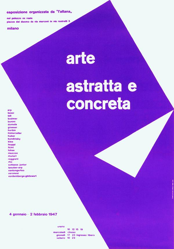 Max Huber, Manifesto della mostra Arte astratta e concreta, 1947, Archivio Max Huber.