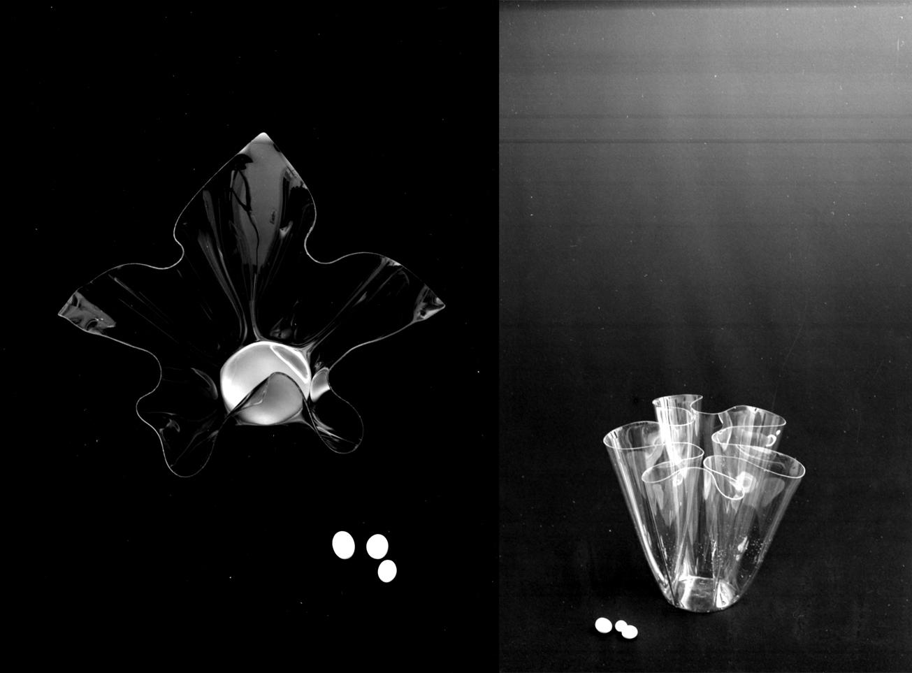 4. Vaso a forma libera in plexiglass, designer Angelo Mangiarotti, anni sessanta © Università Iuav di Venezia – Archivio Progetti, Fondo Giorgio Casali.