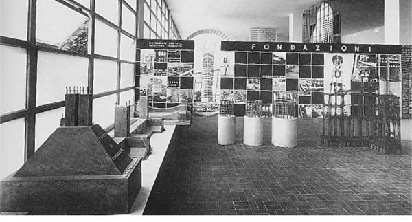 Mostra dei sistemi costruttivi moderni e dei materiali per l'edilizia, VI Triennale, 1936 (Immagine fornita dall'autore).