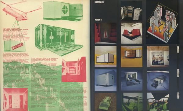 Mostra Italy: The New Domestic Landscape. Gli environment di New York sulle pagine di Casabella 366, giugno 1972. Le foto sono quelle realizzate in Italia da Valerio Castelli.