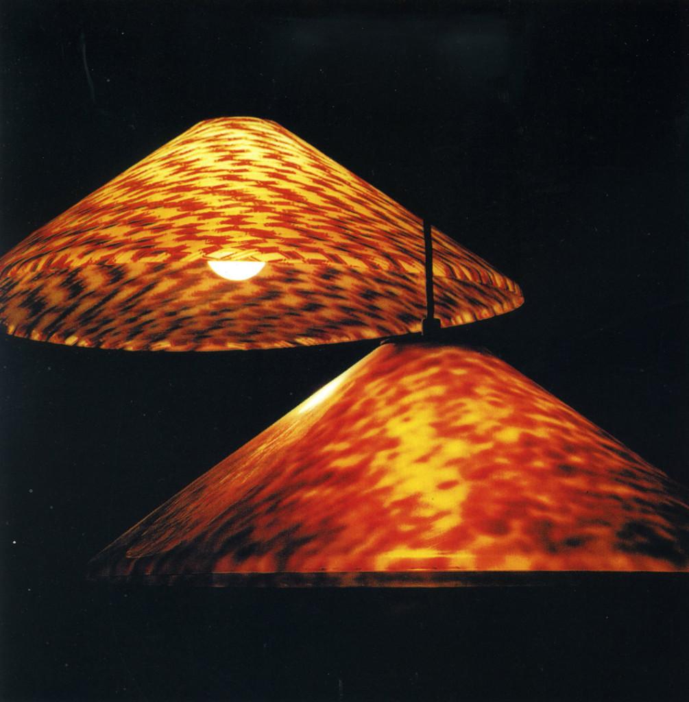 Enzo Mari, lampade in Rhodoid per Artemide.