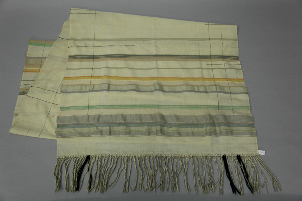 Corona Krause, Bedcover, Table Cloth, o.D., 242 x 88 cm, Linen, Cotton, Silk, Metallic weave, Wool, Linen weave. © Bauhaus Sammlungsarchiv Dessau.