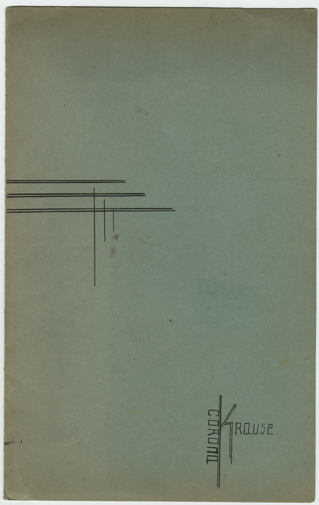 Corona Krause Sketchbook Corona Krause o D [1924 1925] 39