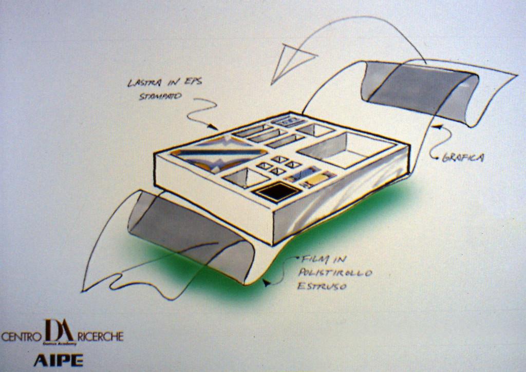 Concept di imballo per piastrelle ceramiche per AIPE.