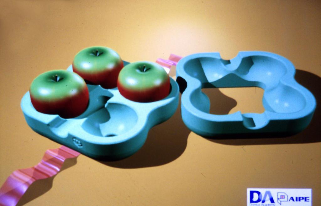 Concept di imballo per mele per AIPE, 1994.