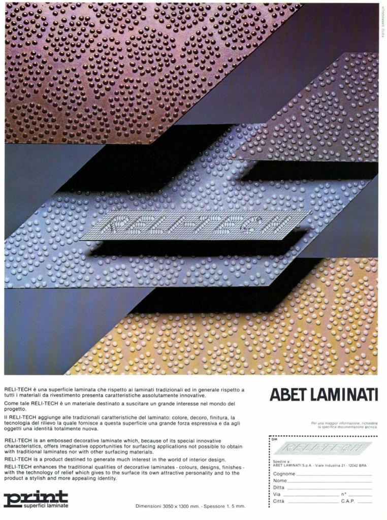 Inserto pubblicitario del laminato Abet