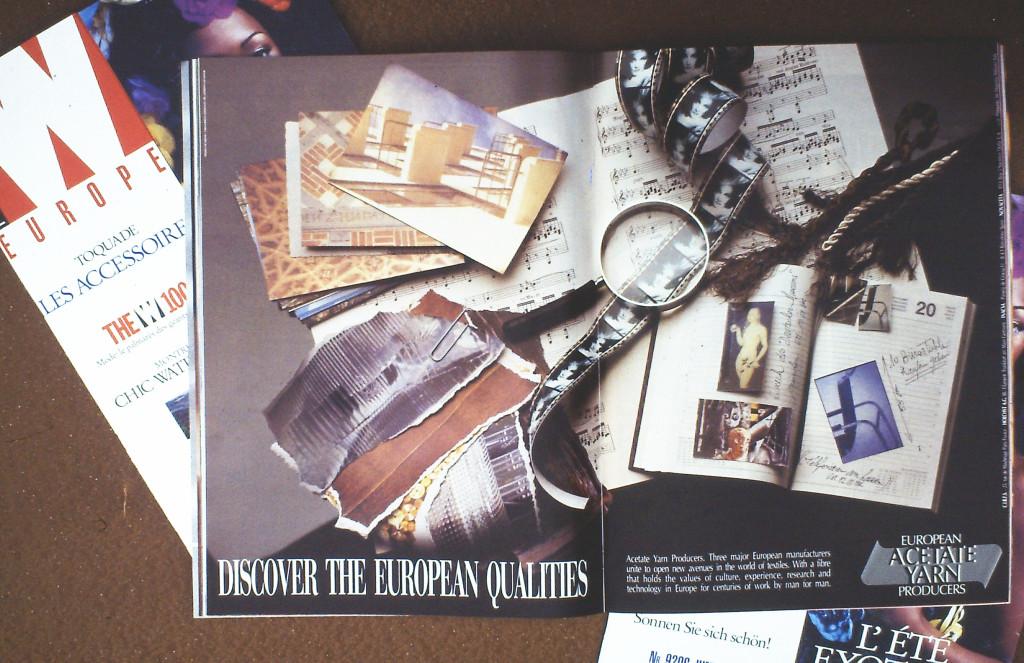 Campagna pubblicitaria per European Acetate Yarn, 1993.
