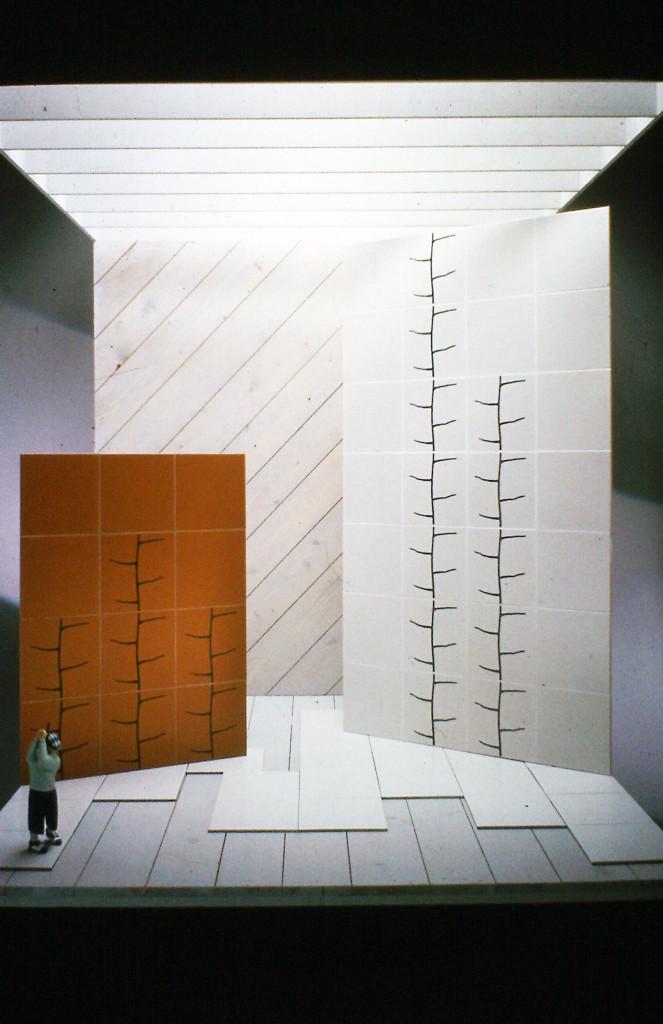 Prototipo di piastrella con inserto in rame per Ceramiche Ricchetti, 1989.