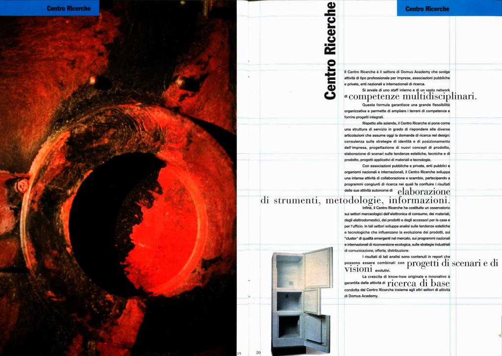 Brochure Domus Academy, 1993.