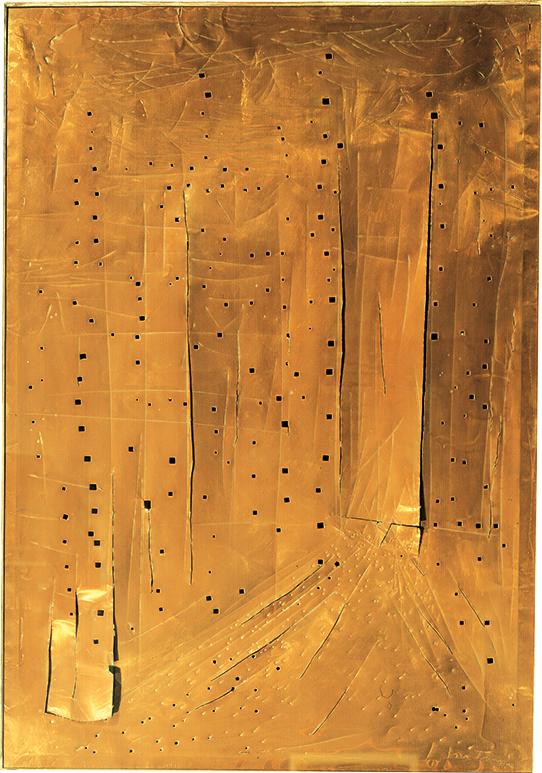 Lucio Fontana, Concetto Spaziale, New York Grattacielo, 1962