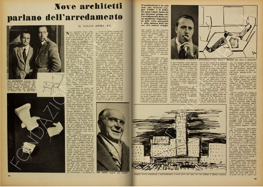 Franco albini archives ais design for Ad giornale di arredamento