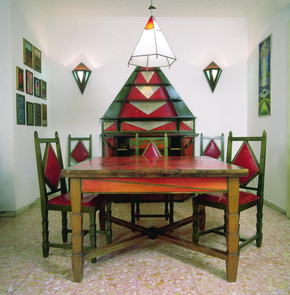 Gerardo Dottori, Sala da pranzo di Casa Cimino, Collezione privata, Archivio Gerardo Dottori, Perugia