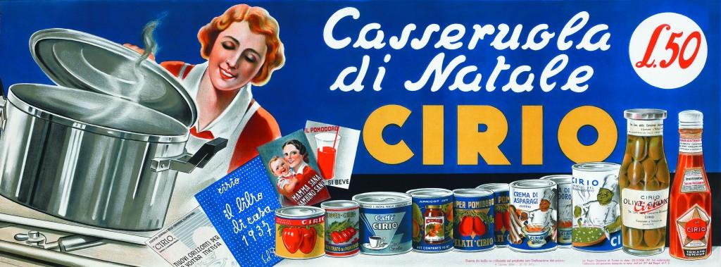 Annuncio pubblicitario Cirio, 1937 (Archivio Storico Cirio-Conserve Italia)