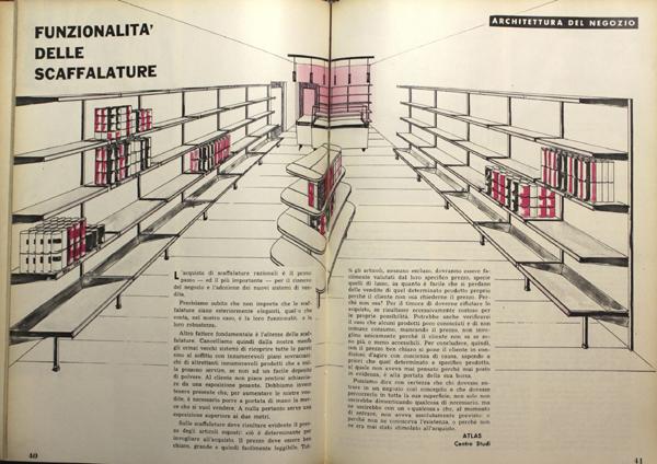 Centro Studi Atlas, scaffalature in Vendere generi alimentari, Novembre 1960