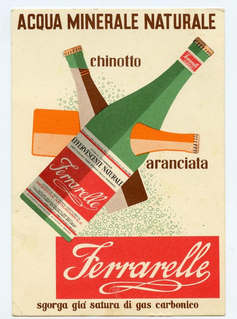 Annuncio pubblicitario Ferrarelle, anni Cinquanta