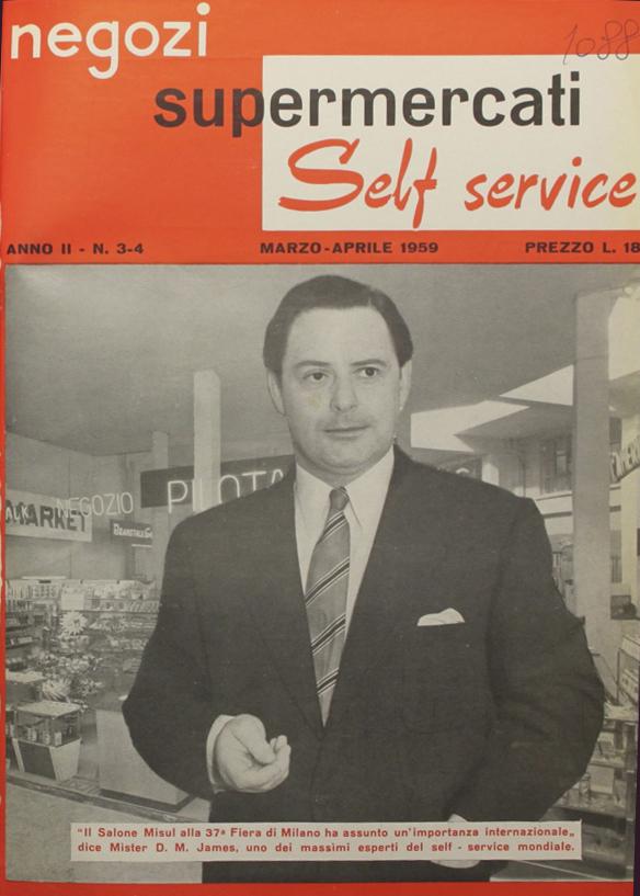 Copertina di Negozi, supermercati e self service con l'inventore del sistema Beanstalk