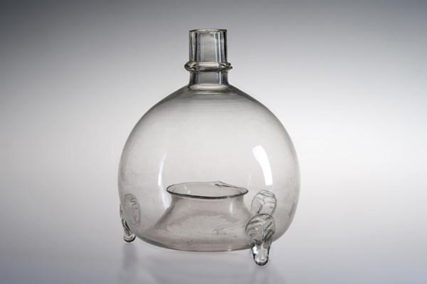 Acchiappamosche, fine XIX secolo, S.A.V., vetro bianco soffiato