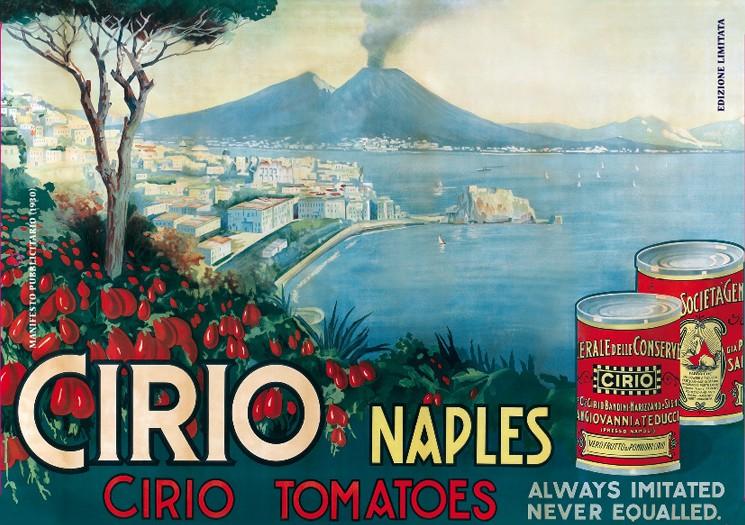 Fig. 3 - Cirio, conserva di pomodori, poster pubblicitario del 1930.