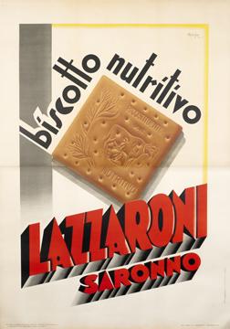 Fig. 6 - Biscotto nutritivo Lazzaroni, poster pubblicitario del 1932.