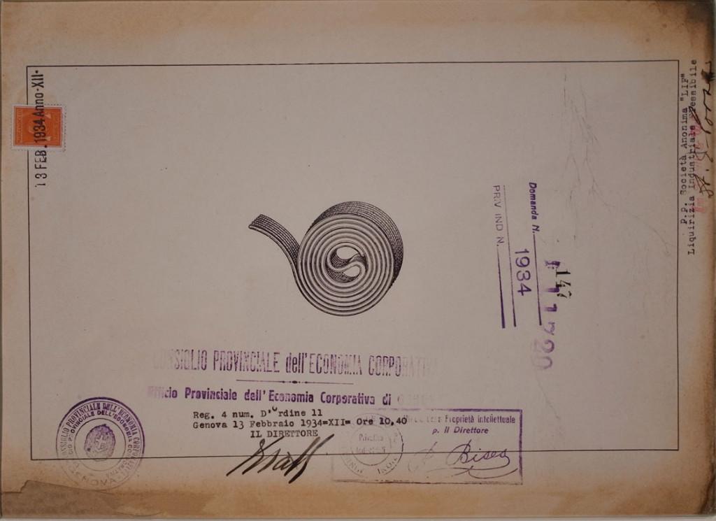 Fig. 7- Rotolo di liquirizia della società Liquirizia Industriale Flessibile, brevetto italiano del 1934.