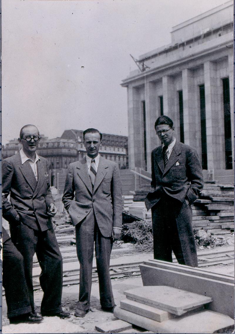 Angelo Bianchetti e Le Corbusier a Parigi 1937. Fondo Pavesi Archivio Storico Barilla
