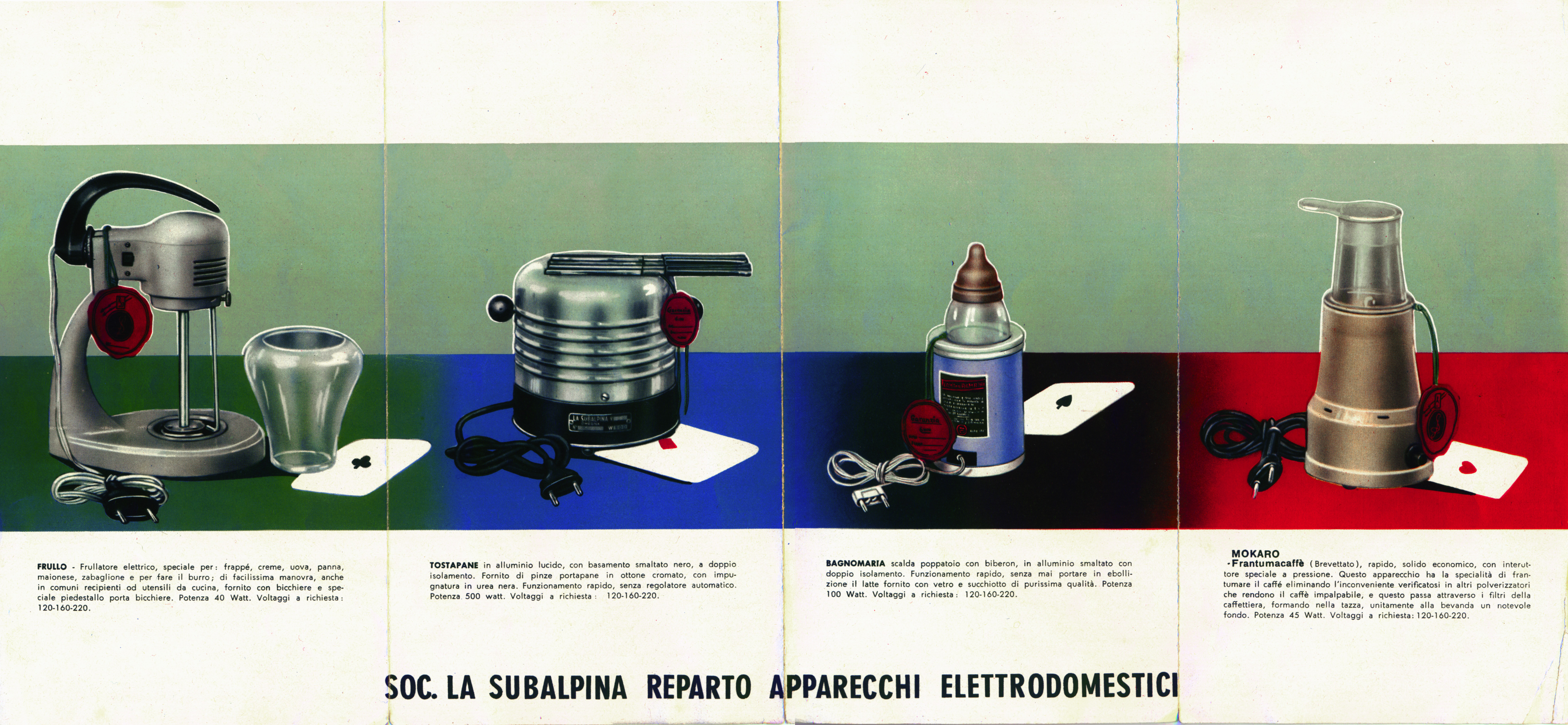 Catalogo prodotti La Subalpina, 1956.