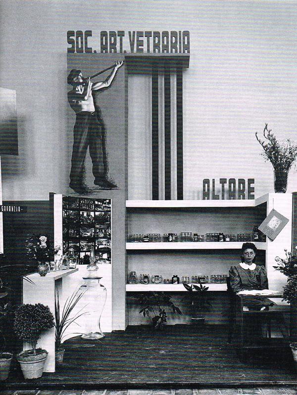 """Lo stand della S.A.V. alla """"Mostra dello Scatolame e degli imballaggi"""", 1941"""