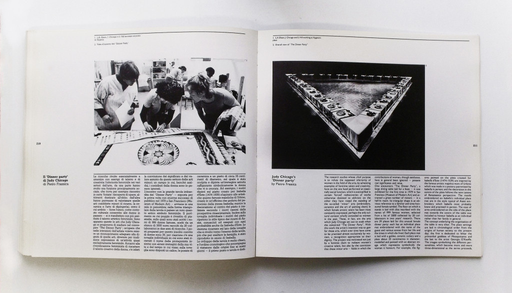 "Pietro Frassica, ""Il 'Dinner Party' di Judy Chicago""."