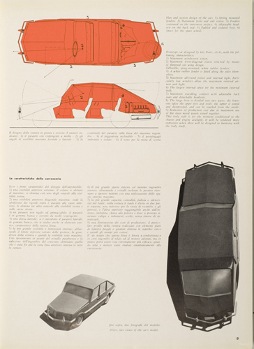 """Fig.1 - Illustrazioni dell'articolo di Gio Ponti, """"I principi di una carrozzeria"""" pubblicato nel 1954 in Stile Industria."""