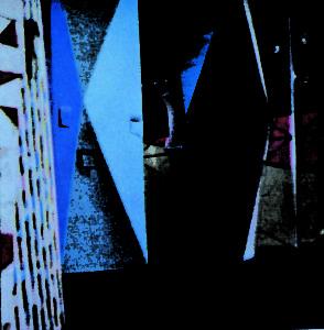 """Fig.6 - Bernard Rudofsky, vista delle sculture nella sala principale della mostra Textile USA, MoMA 1956. Immagine tratta dall'articolo """"Textile USA"""", Domus, 326, gennaio 1957."""