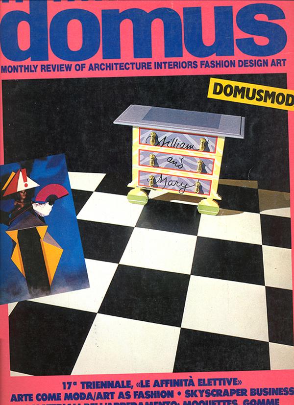 Copertina di Domus, 661, maggio 1985.