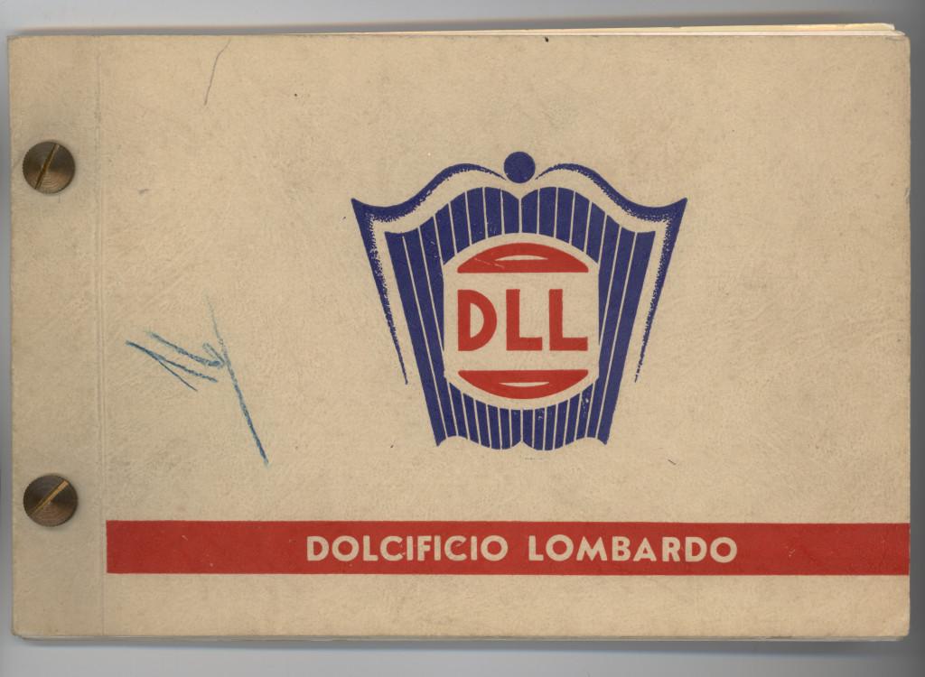 Primo catalogo prodotti del 1946. Sulla copertina è riportato il logo DLL (Dolcificio Lombardo Lainate). (Courtesy, archivio storico Perfetti van Melle)