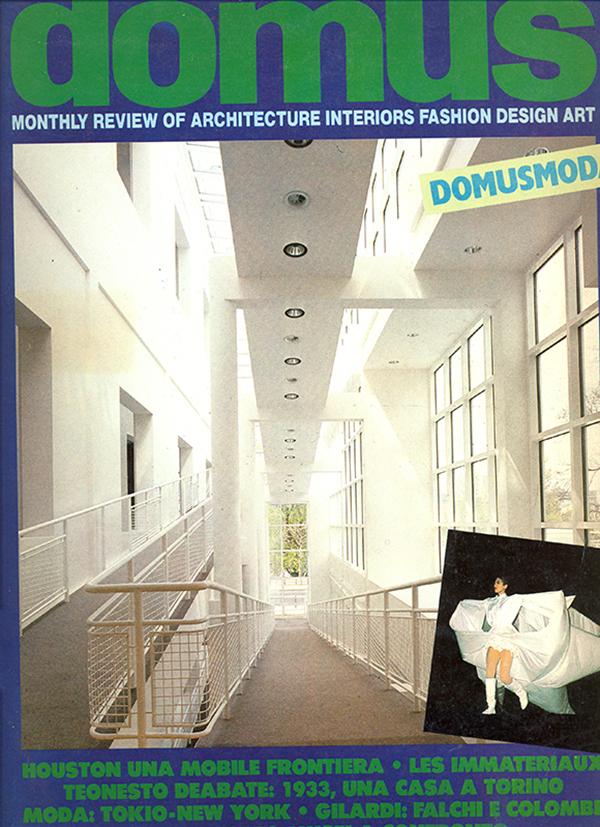Copertina di Domus, 663, luglio-agosto 1985.
