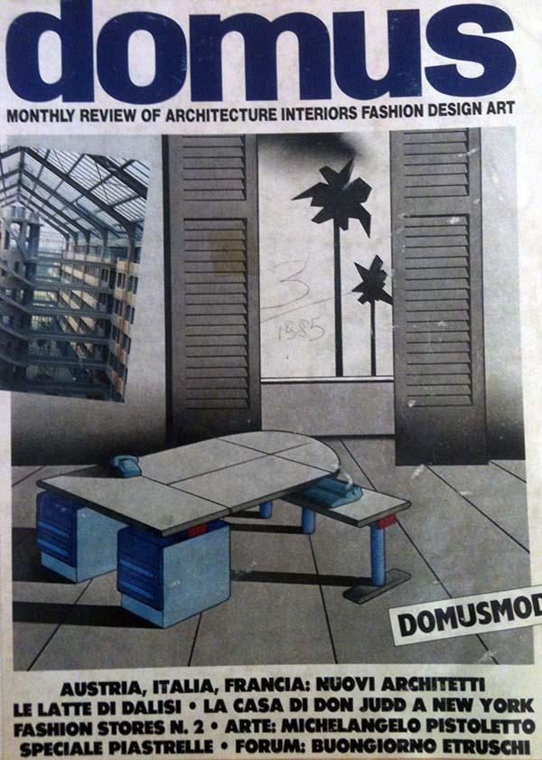 Copertina di Domus, 664, settembre 1985.