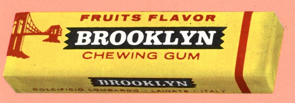 Prima versione della confezione Brooklyn, 1956. Progetto grafico di Daniele Oppi. (Courtesy, archivio storico Perfetti van Melle)