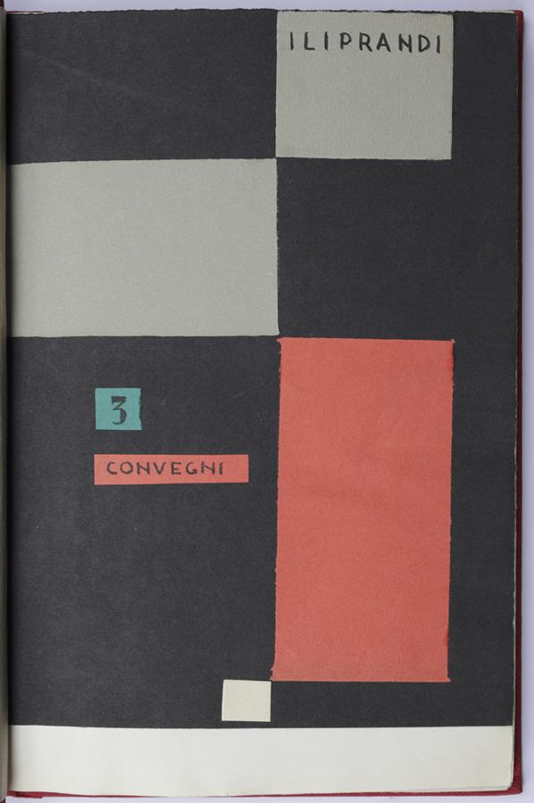 """Fig. 6 - Giancarlo Iliprandi, copertina del dattiloscritto """"3 convegni (1. Salisburgo, 2. Salisburgo, 3. Berlino)"""", 1952 / Courtesy collezione Giancarlo Iliprandi"""