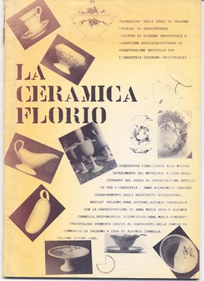 Fig. 7 - Copertina di una delle prime ricerche sulla storia del design, La ceramica Florio, 1985.