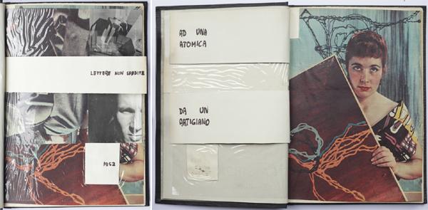 """Fig. 9 e fig. 10 - Giancarlo Iliprandi, copertina del diario """"Lettere non spedite"""", estate 1952 / Courtesy collezione Giancarlo Iliprandi"""