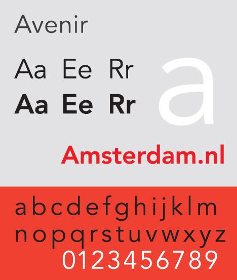 Adrian Frutiger Avenir typeface.