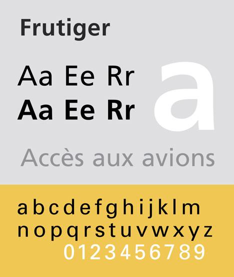 Adrian Frutiger, Frutiger typeface.