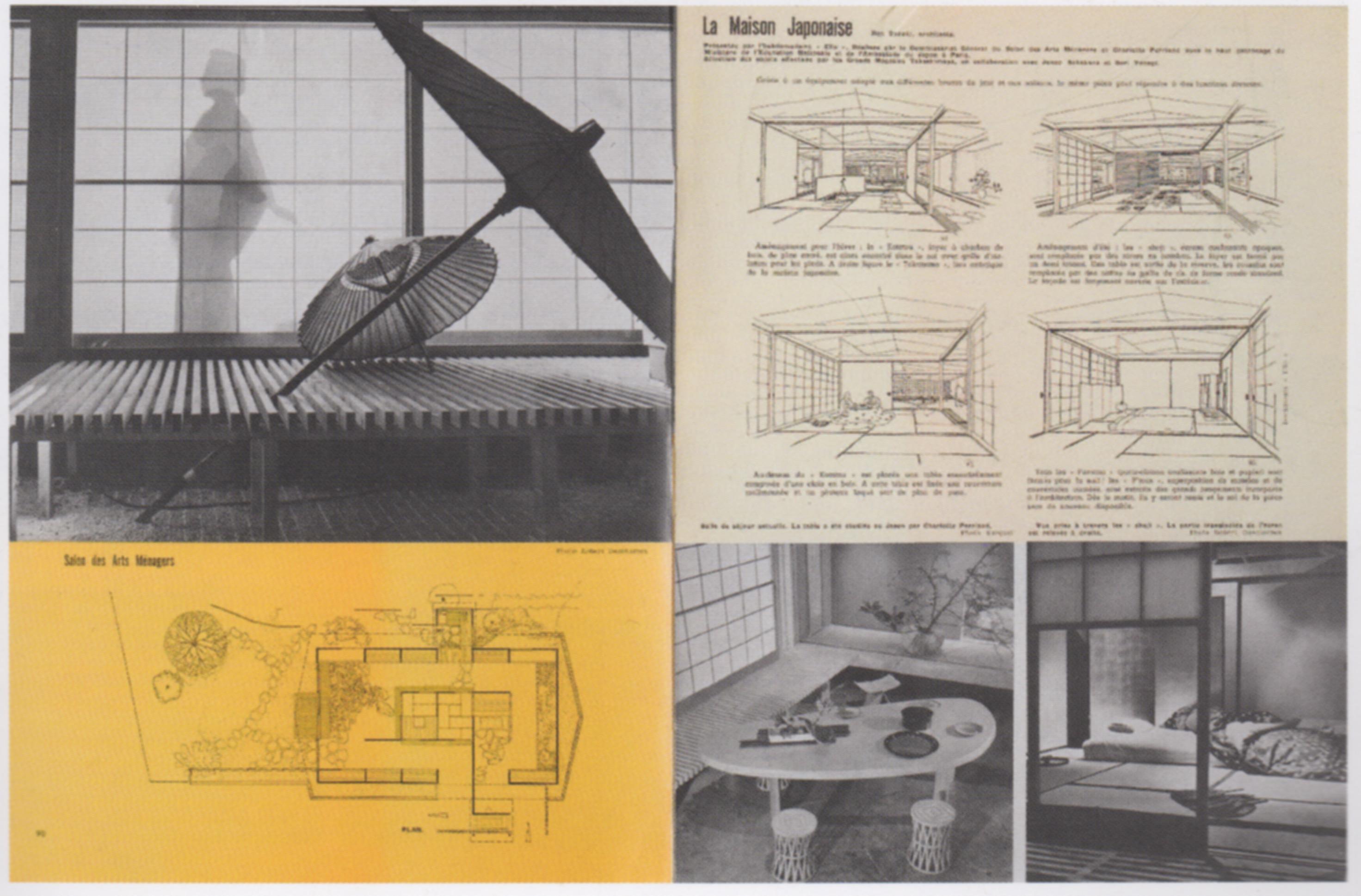 """Fig 7 C Perriand doppia pagina dell articolo """"Salon des"""
