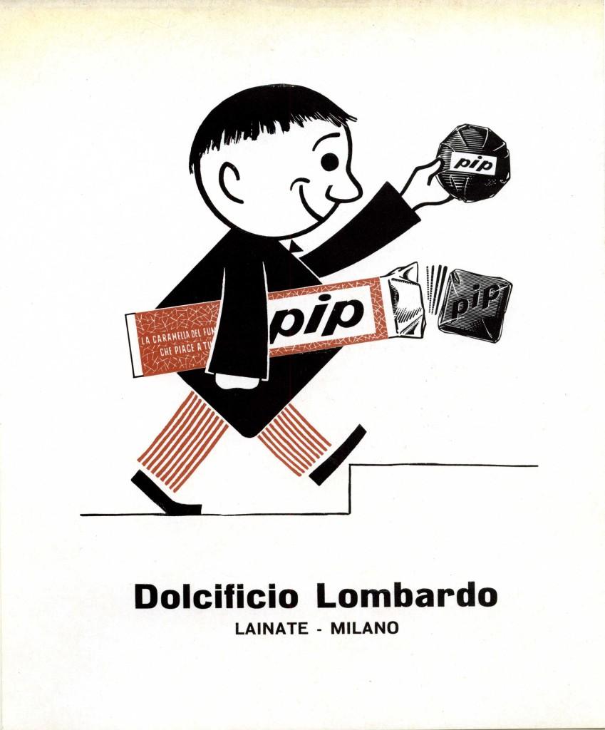 Caramelle per fumatori Pip, primi anni cinquanta. Manifesto pubblicitario. (Courtesy, archivio storico Perfetti van Melle)