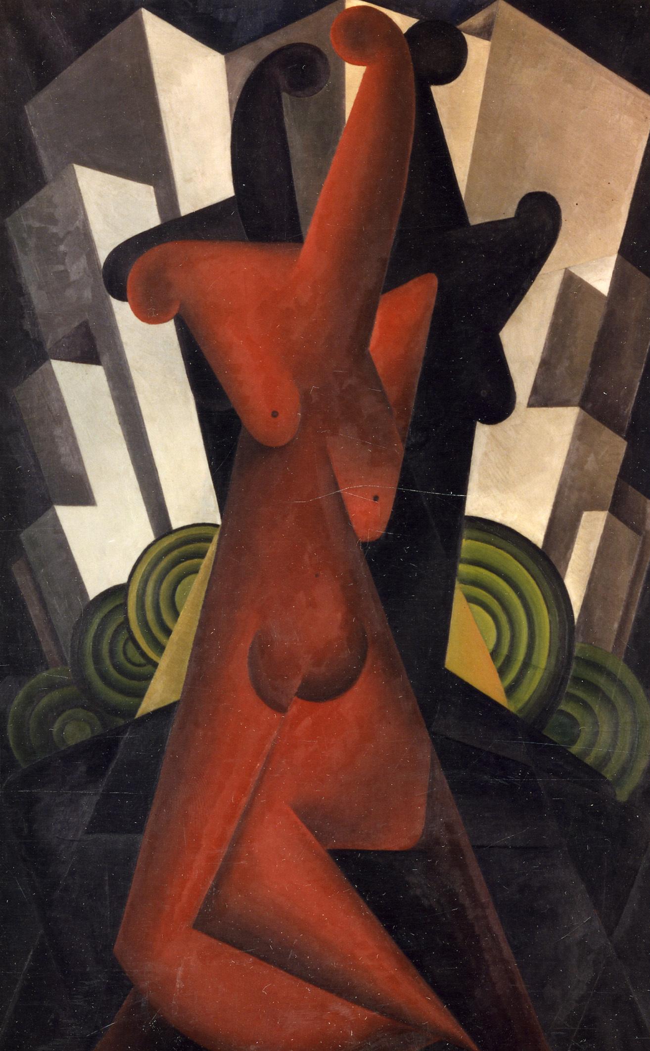 P.-L. Flouquet, Féminité, Serie 2 number 9, oil on canvas, 1922. / © KIK-IRPA, Brussels (Belgium), cliché KM3122.