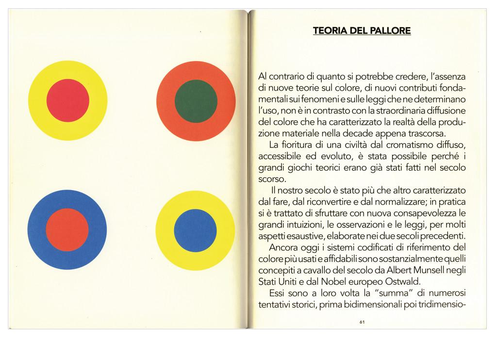 """Il capitolo di Clino Trini Castelli intitolato """"Teoria del pallore"""" e pubblicato nel 1993 in B. Radice (a cura di), Ettore Sottsass. Note sul colore, supplemento alla rivista Elementi edita dall'azienda Abet Laminati"""