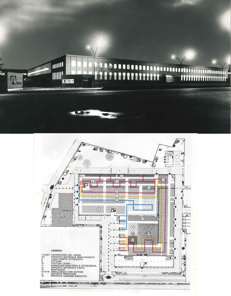 Fig.7 Stabilimento Tecno a Varedo progettato da Osvaldo Borsani e Eugenio Gerli, 1970 / courtesy Archivio Borsani, Varedo.