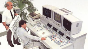 Fig. 4 - Aesthedes computer, picture from a sales brochure, 1980s / Personal collection of the author
