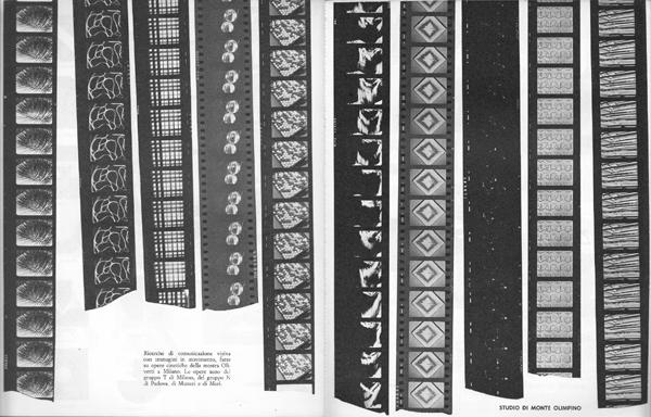 Fig. 15 - Studio di Monte Olimpino, Ricerche di comunicazione visiva con immagini in movimento, pubblicate nell'Almanacco letterario Bompiani 1963, 1962.