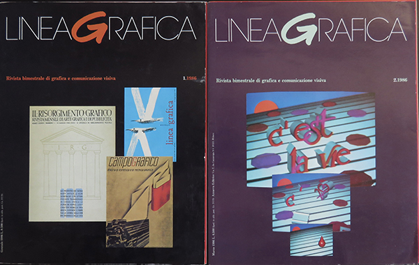 Fig. 2 - Copertine dei primi due numeri del 1986.