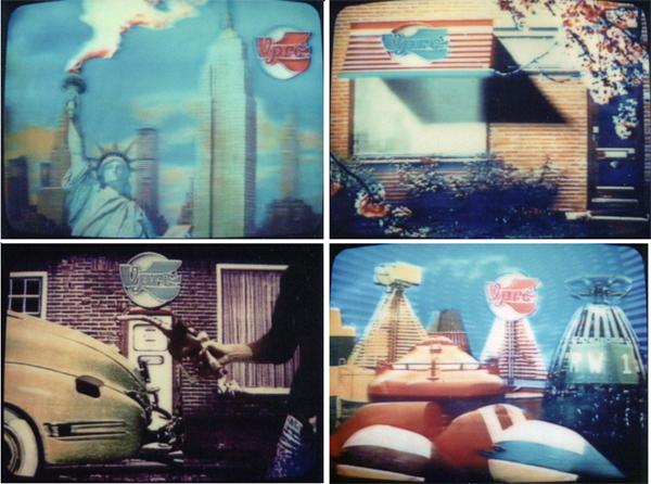 Fig. 3 - Willem van den Berg, VPRO signals, 1981. Four stills from four VPRO signals or announcements. Produced by Willem van den Berg/VPRO / © VPRO, Courtesy of Willem van den Berg